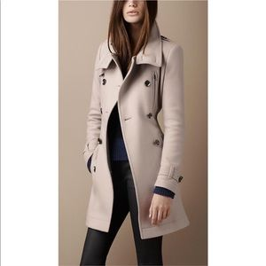 Burberry Brit Gray Wool Peacoat Size 6